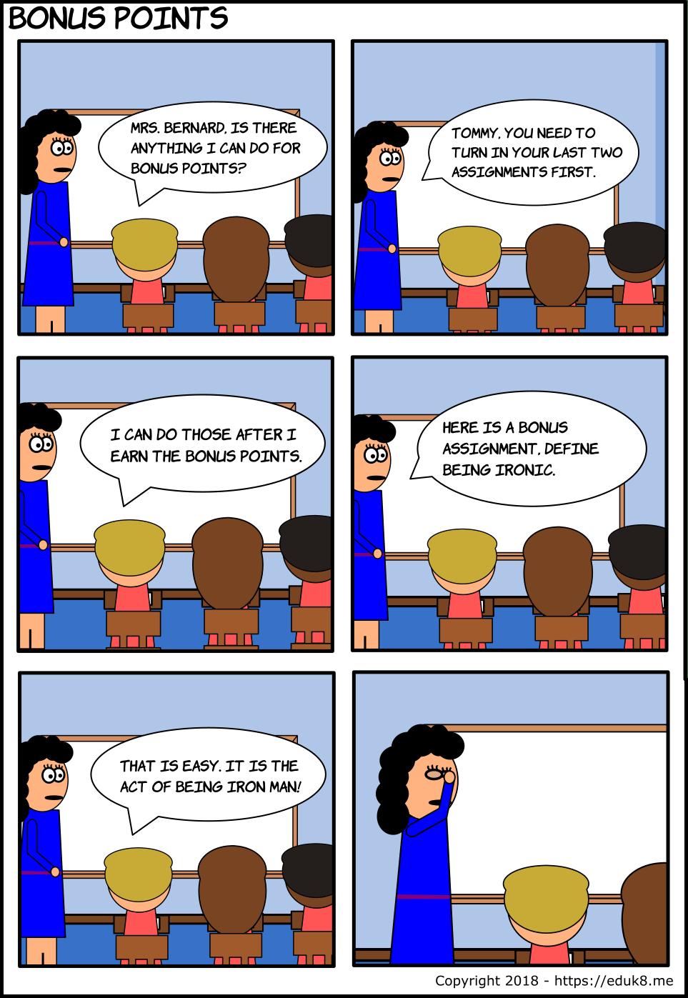 {Comic} Bonus Points