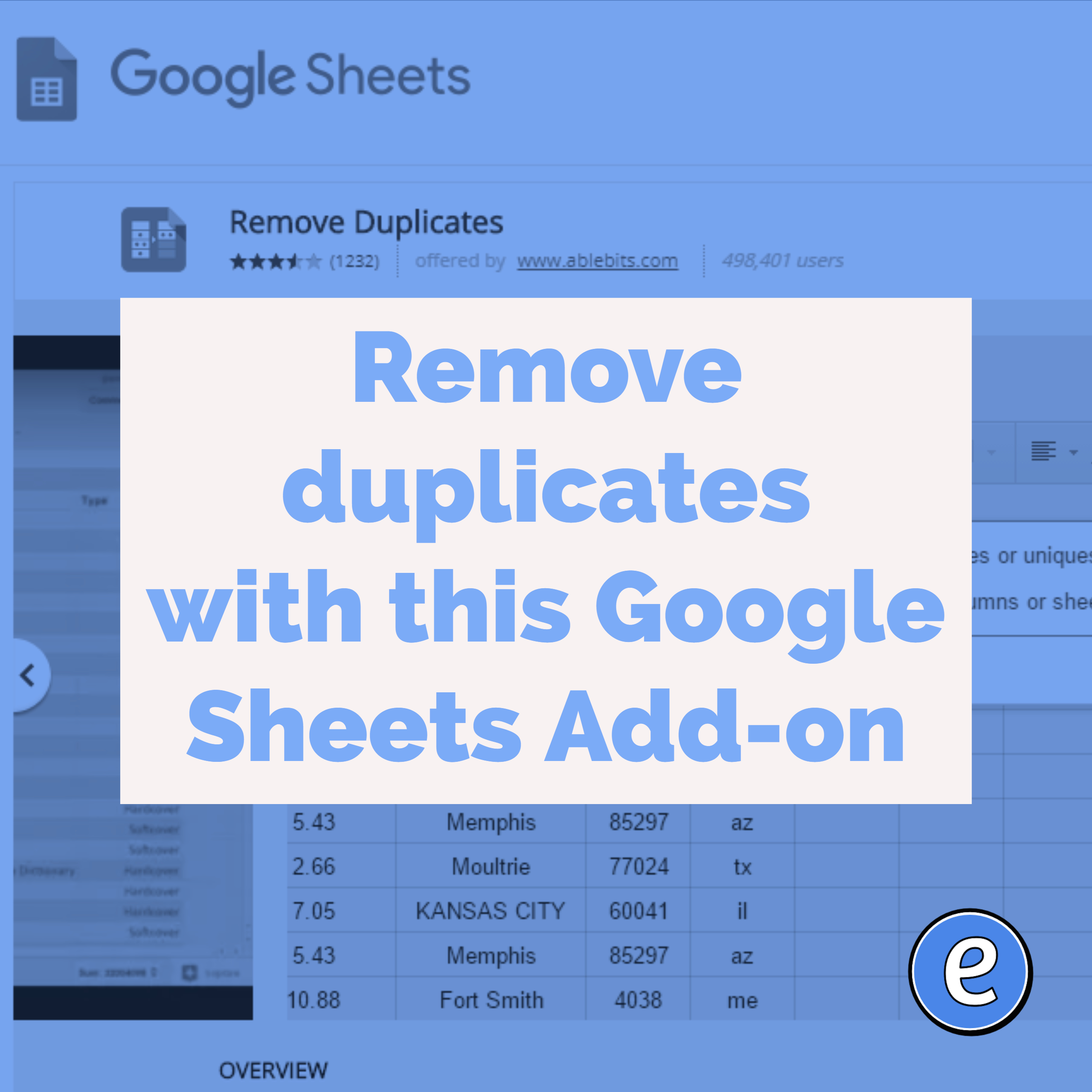 remove duplicates with this google sheets add on eduk8me