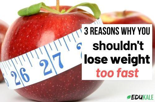what can happen if you lose weight too fast