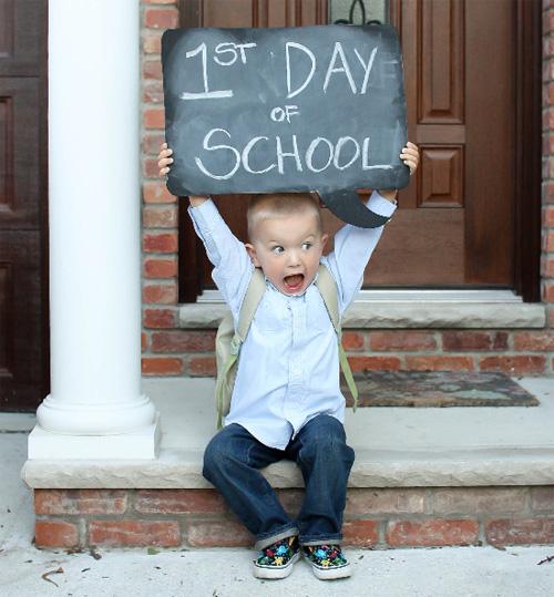 fotografia primer dia escuela 9 buenas ideas para que el primer día en la escuela sea maravilloso