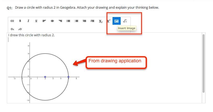Geogebra screenshot