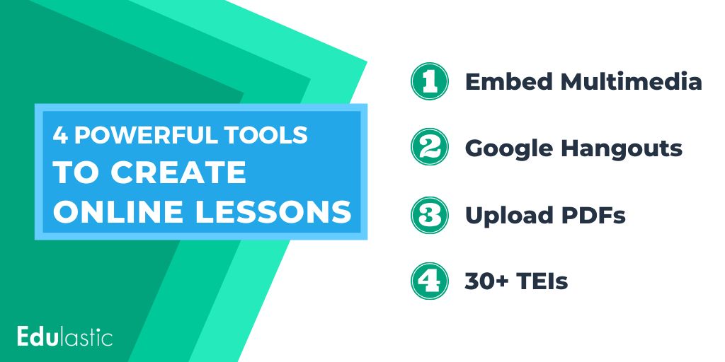 4 powerful tools to create online lessons for distance learning.