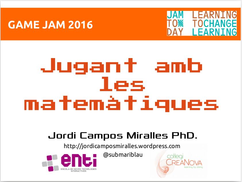 P2L: Presentació a la JAM Today 2016