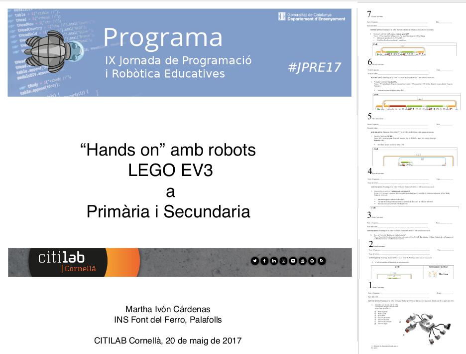 Activitats d'introducció a Lego Mindstorms EV3