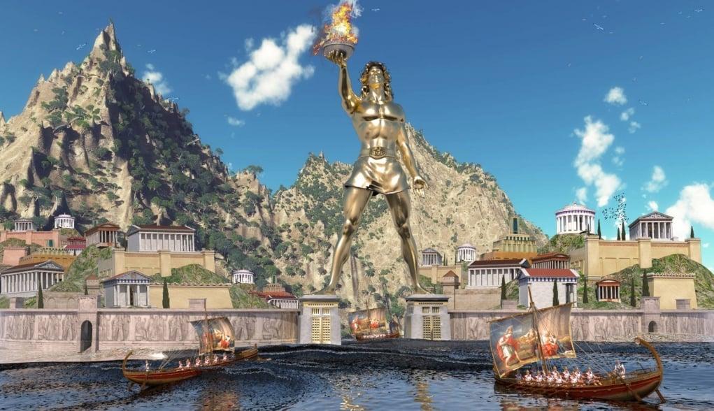 4. Statue of Rhodes (BC 282 - Rhodes)