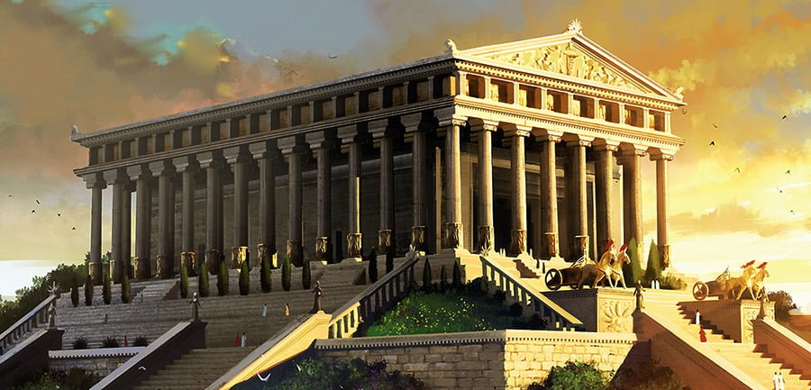 Temple of Efes Artemis reconstruction circa 350 300 BC ... - what 7 wonders of the world