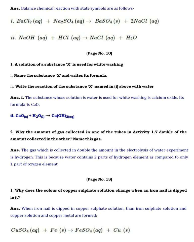 Ch 1 Science Chemical Reactions And Equations Page 002
