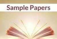 English sample / Model paper for class 10 - Set 13- 2020