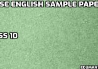 CBSE English Sample Papers 2021 Class 10 with Solution