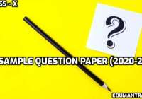 English Sample Question Papers 10th class - 2021 Download