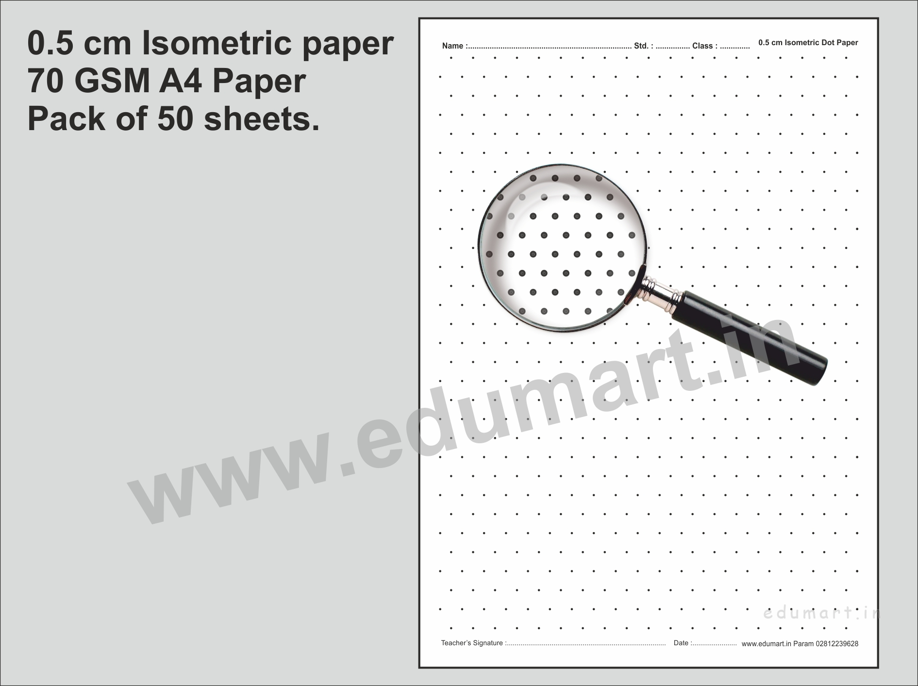 Isometric Dot Paper 0 5 Cm Pack Of 50 Sheets