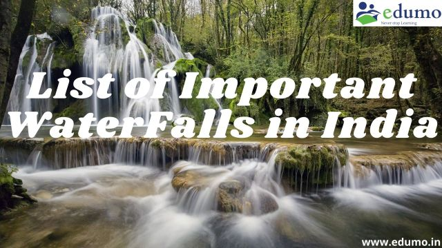 List of Waterfalls in India pdf download