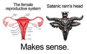 satanic ram vagina