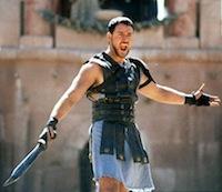 gladiator entertained
