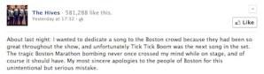 hives facebook apology