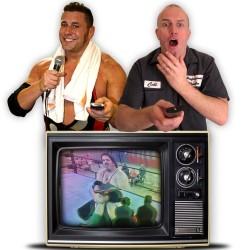 Comedian Brendan Burns and professional wrestler Colt Cabana with their Edinburgh Fringe 2014 show.