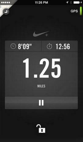 Nike+ shows you this when running