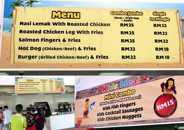 legoland food prices