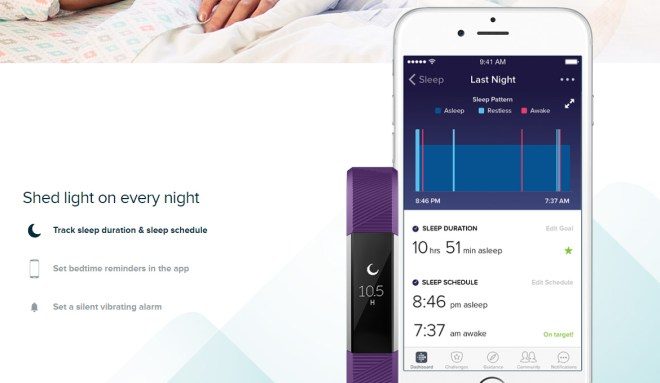 fitbit sleep monitor