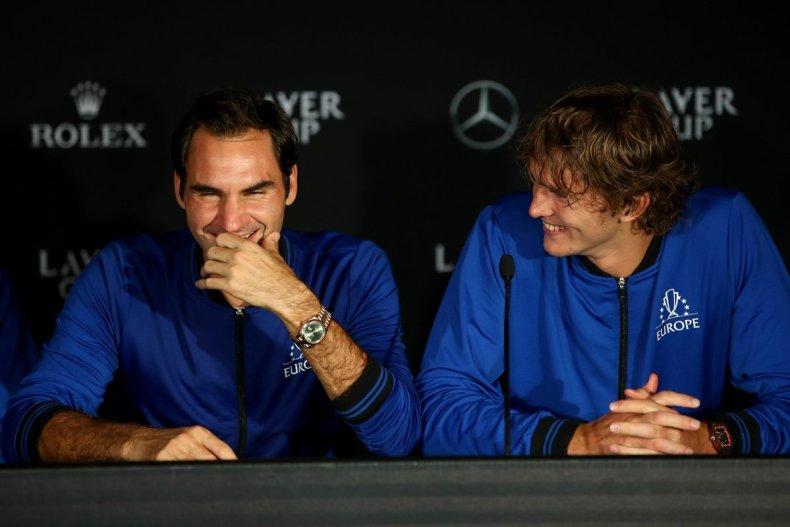 Roger Federer e Alexander Zverev 2018