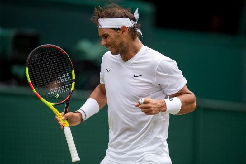Rafael Nadal 2019 Wimbledon Tsonga