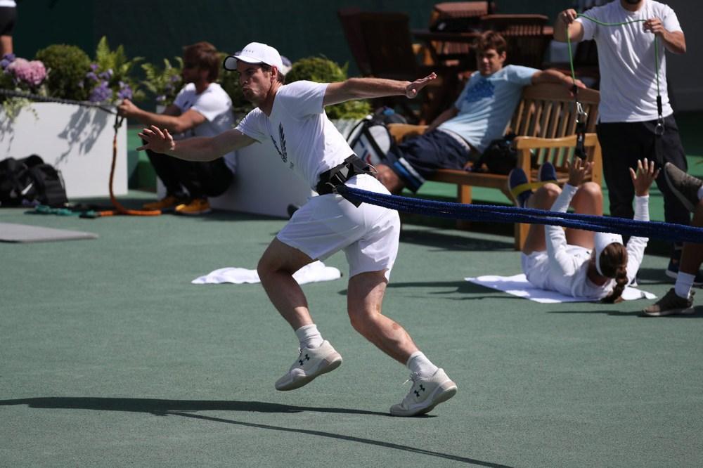 Andy Murray Aquecimento Wimbledon 2091