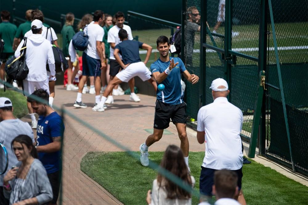 Novak Djokovic Aquecimento Wimbledon 2019