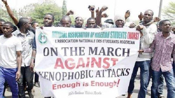 Protesting NANS students