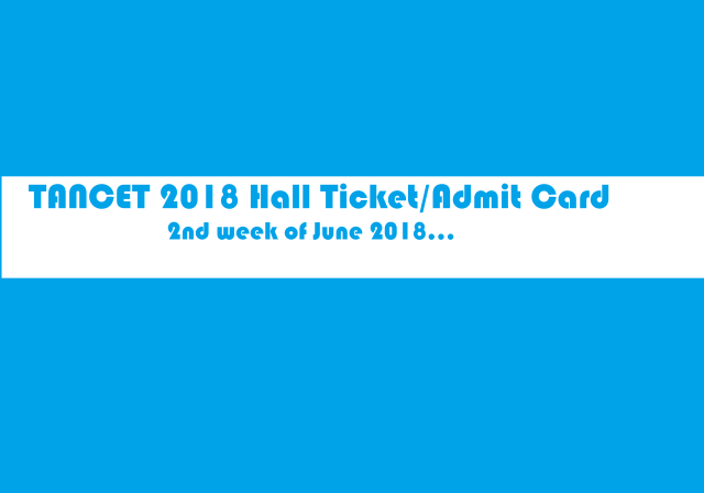 tancet 2018 hall ticket