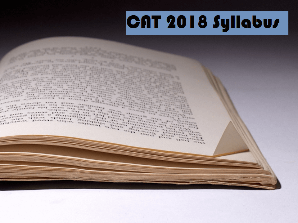 cat 2018 syllabus
