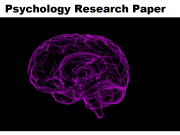 psychology research paper
