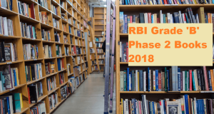 rbi grade b phase 2 books 2018