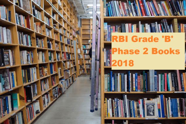 rbi grade b phase 2 books 2018