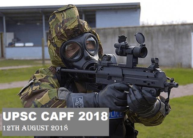 upsc capf 2018