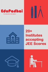 colleges accepting JEE scores