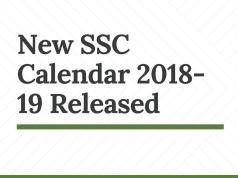 New SSC Calendar 2018-19 Released