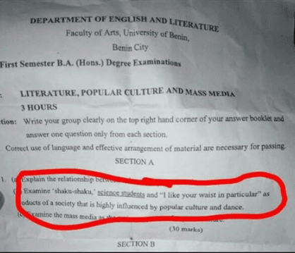 UniBen exam