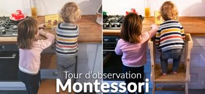 DIY – Fabriquer une tour d'observation Montessori