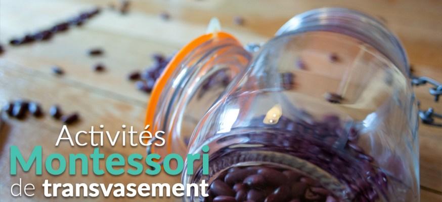 Activités Montessori de transvasement