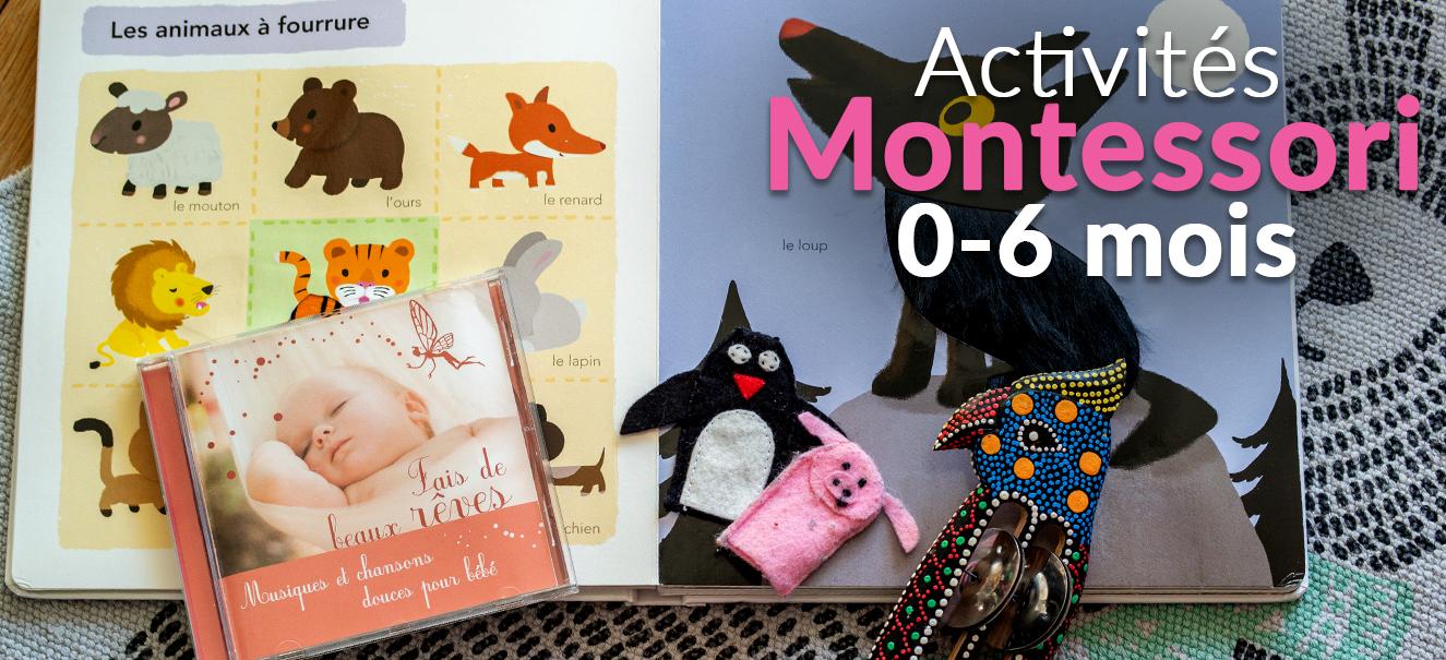 Activités Montessori pour les bébés de 0 à 6 mois