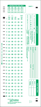 Scantron Card