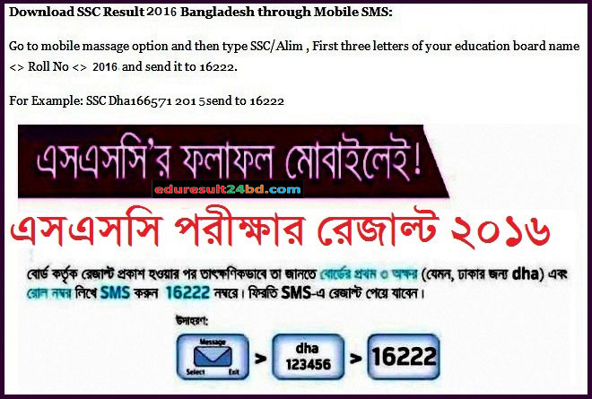 SSC Result 2016 Bangladesh All Education Board