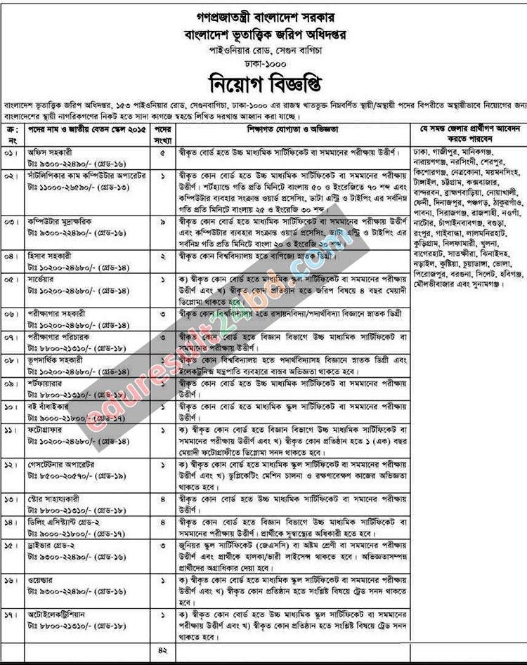 Geological Survey of Bangladesh Job Circular 2016