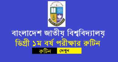 National University Degree 1st Year Exam Routine 2019
