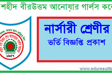 Shaheed Anwar Girls College Admission Circular & Result 2021