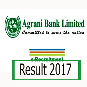 Agrani Bank MCQ Exam Result 2018 Senior Officer