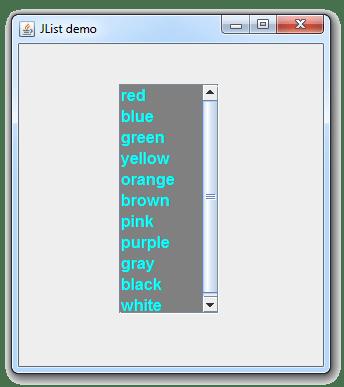 طريقة تغيير نوع و حجم و لون خط عناصر كائن ال JList في جافا
