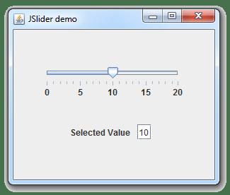 طريقة الحصول على قيمة JSlider في جافا