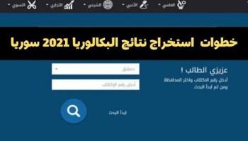 نتائج البكالوريا السورية 2020