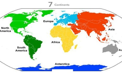 List of Continent and Their Countries